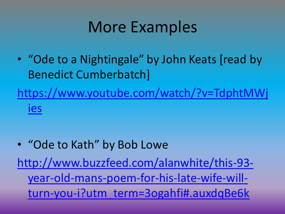 the use of descript terminology in ode to nightingale by john keats In ode to a nightingale, john keats, the author and narrator, used descript terminology to express the deep-rooted pain he was suffering during his battle with tuberculosis 3 / 677 ode on a grecian urn.